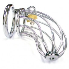 Rouge Stainless Steel Chasity Cock Cage With Padlock